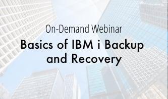 Basics of IBM i Backup and Recovery