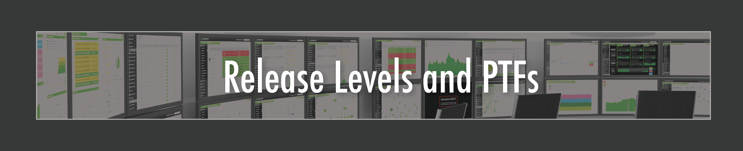 Release Levels and PTFs