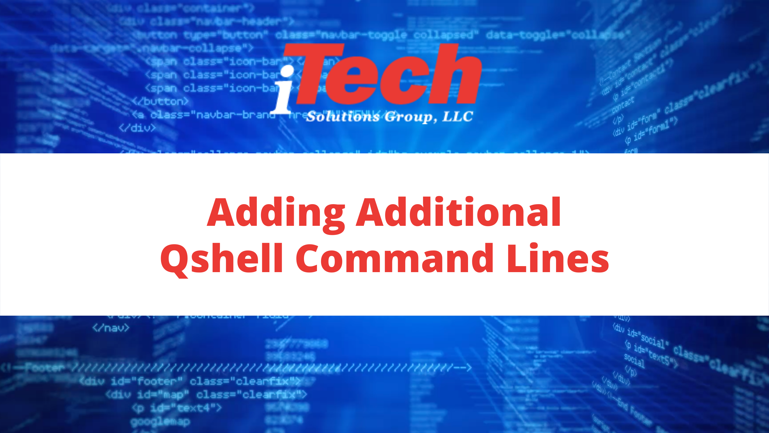 Adding Additional Qshell Command Lines