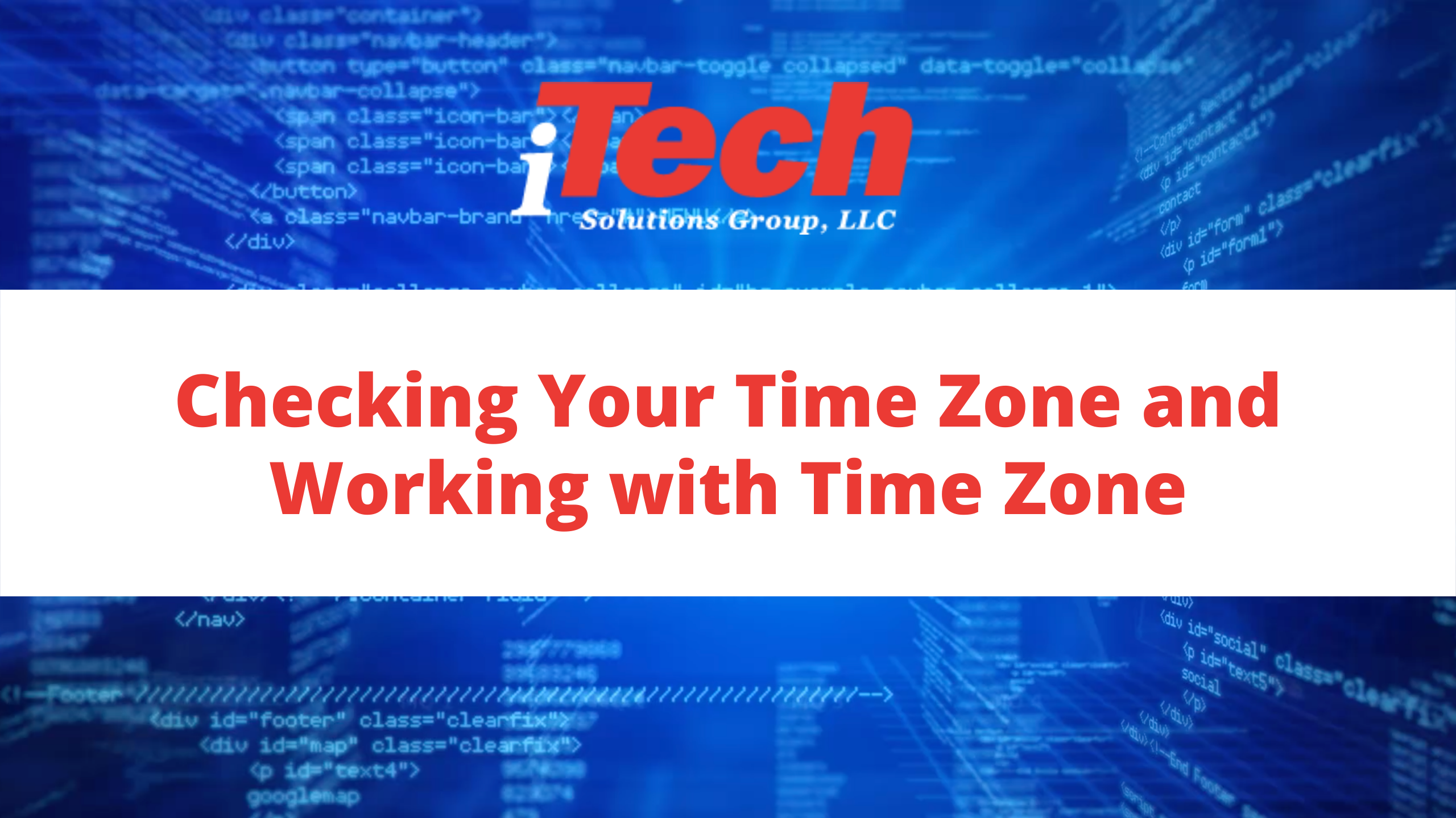 Checking Your Time Zone and Working with Time Zone