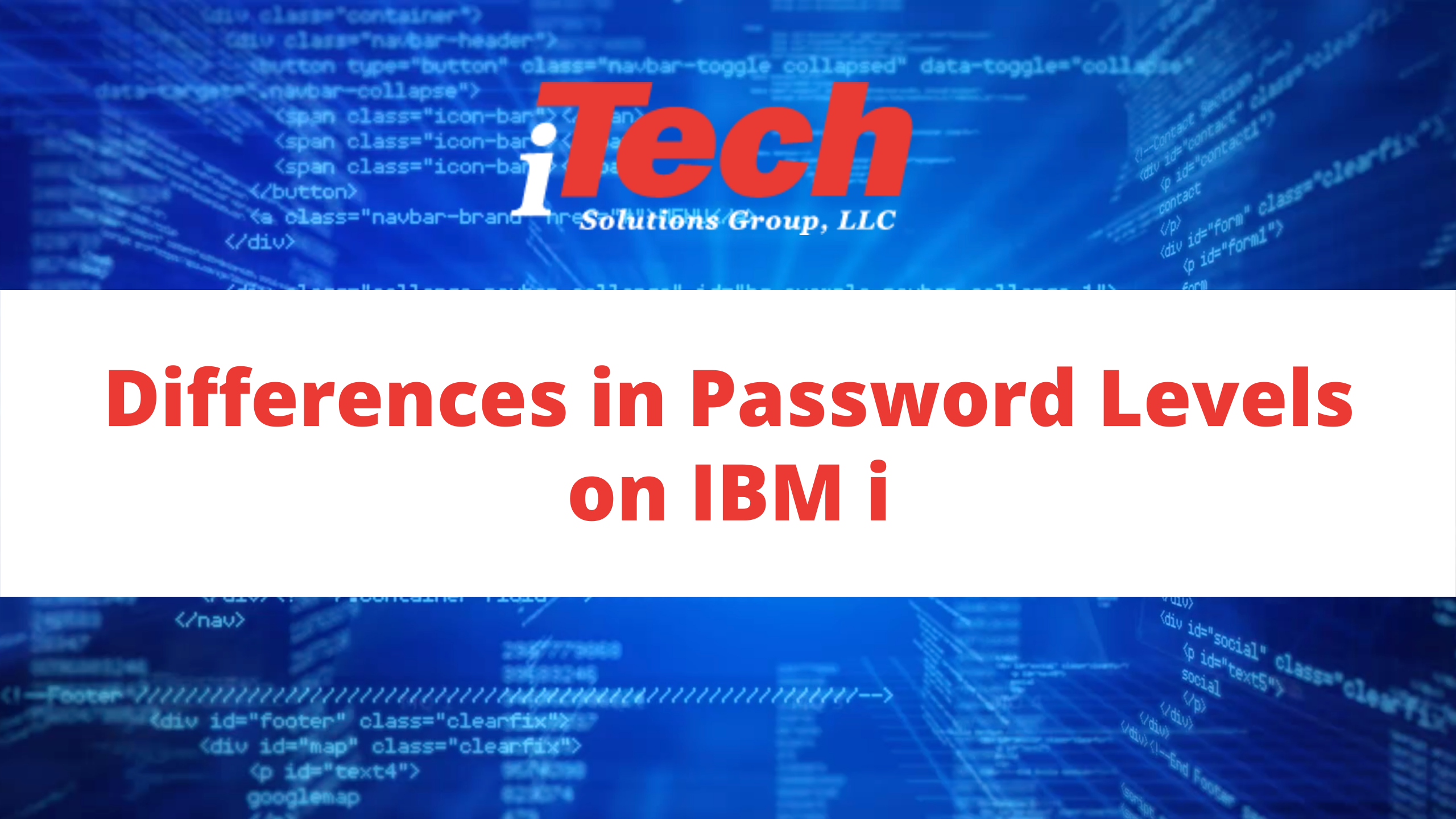 Differences in Password Levels on IBM i (1)