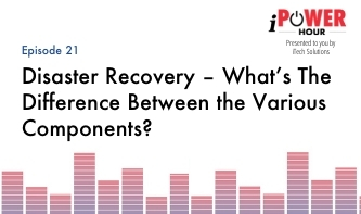 Disaster Recovery – What's The Difference Between the Various Components?