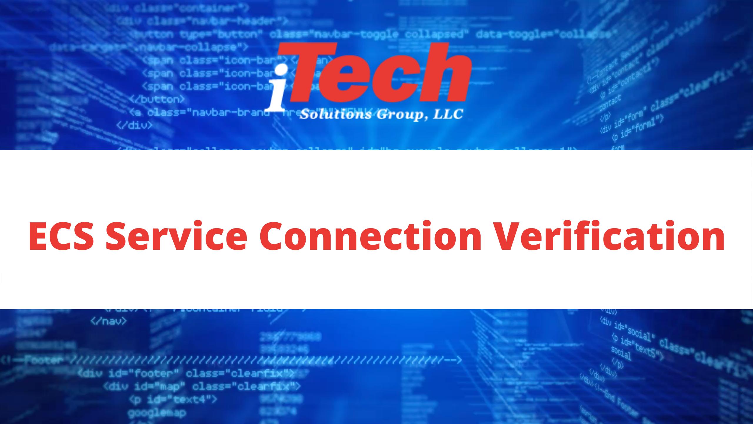 ECS Service Connection Verification