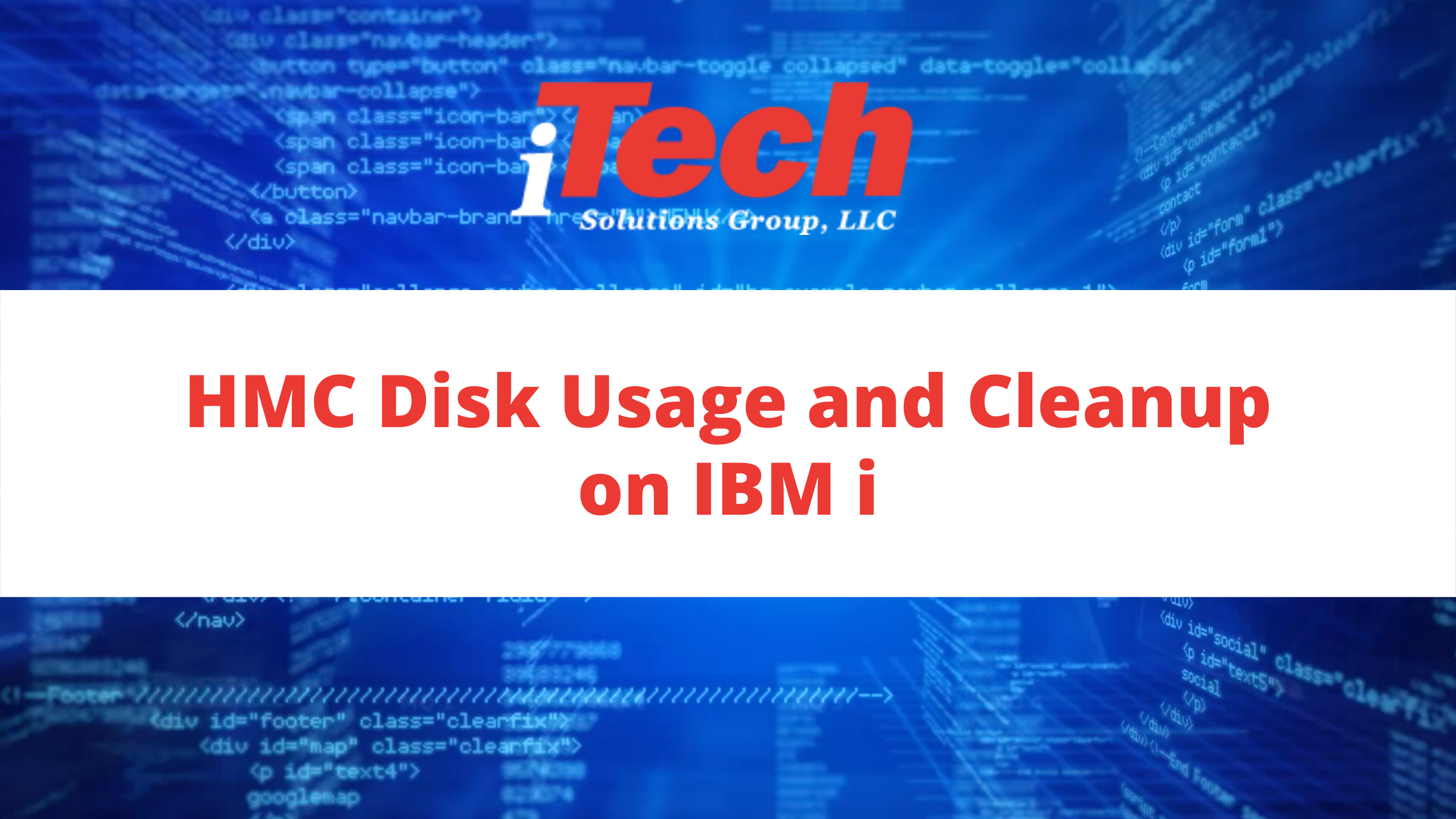 HMC Disk Usage and Cleanup on IBM i