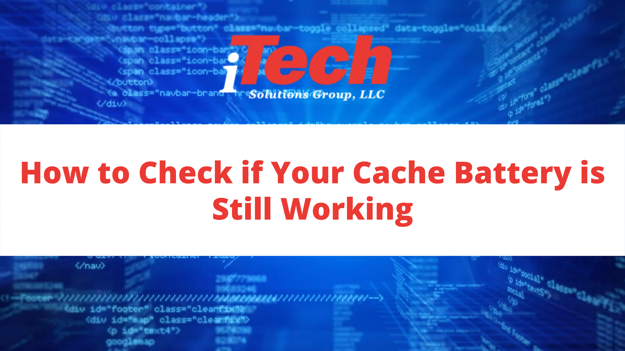 How to Check if Your Cache Battery is Still Working
