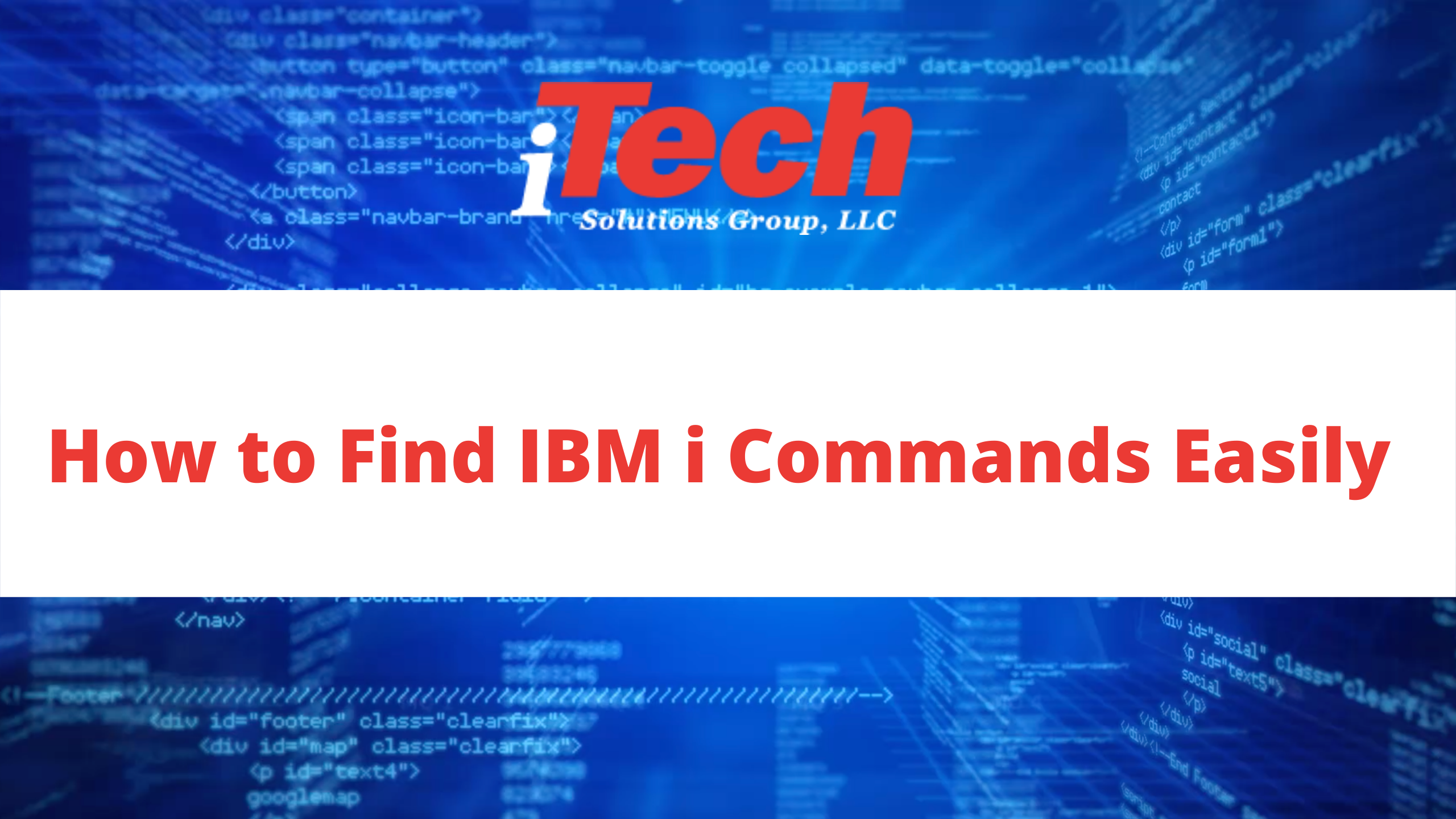 How to Find IBM i Commands Easily
