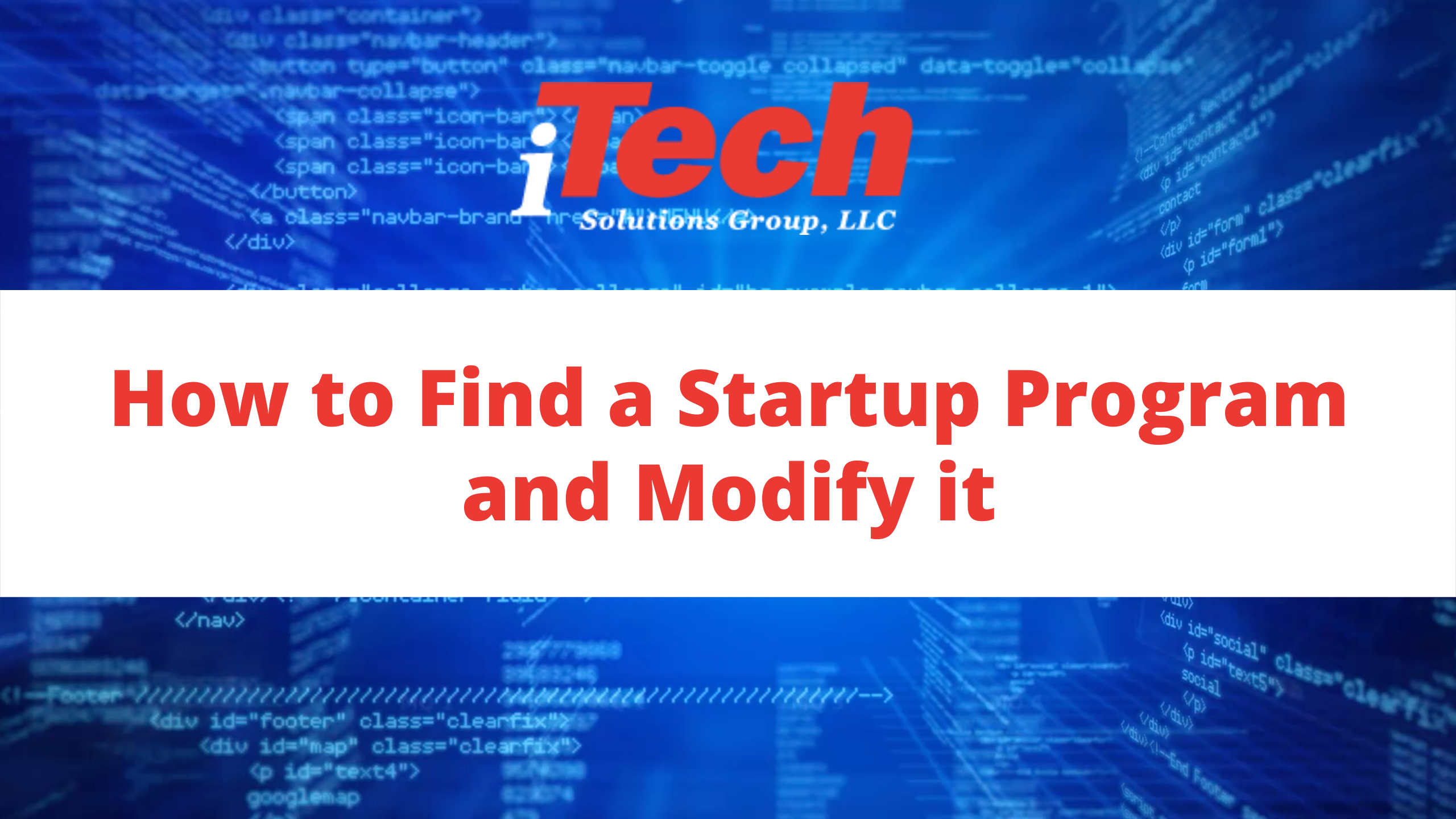 How to Find a Startup Program and Modify it (1)