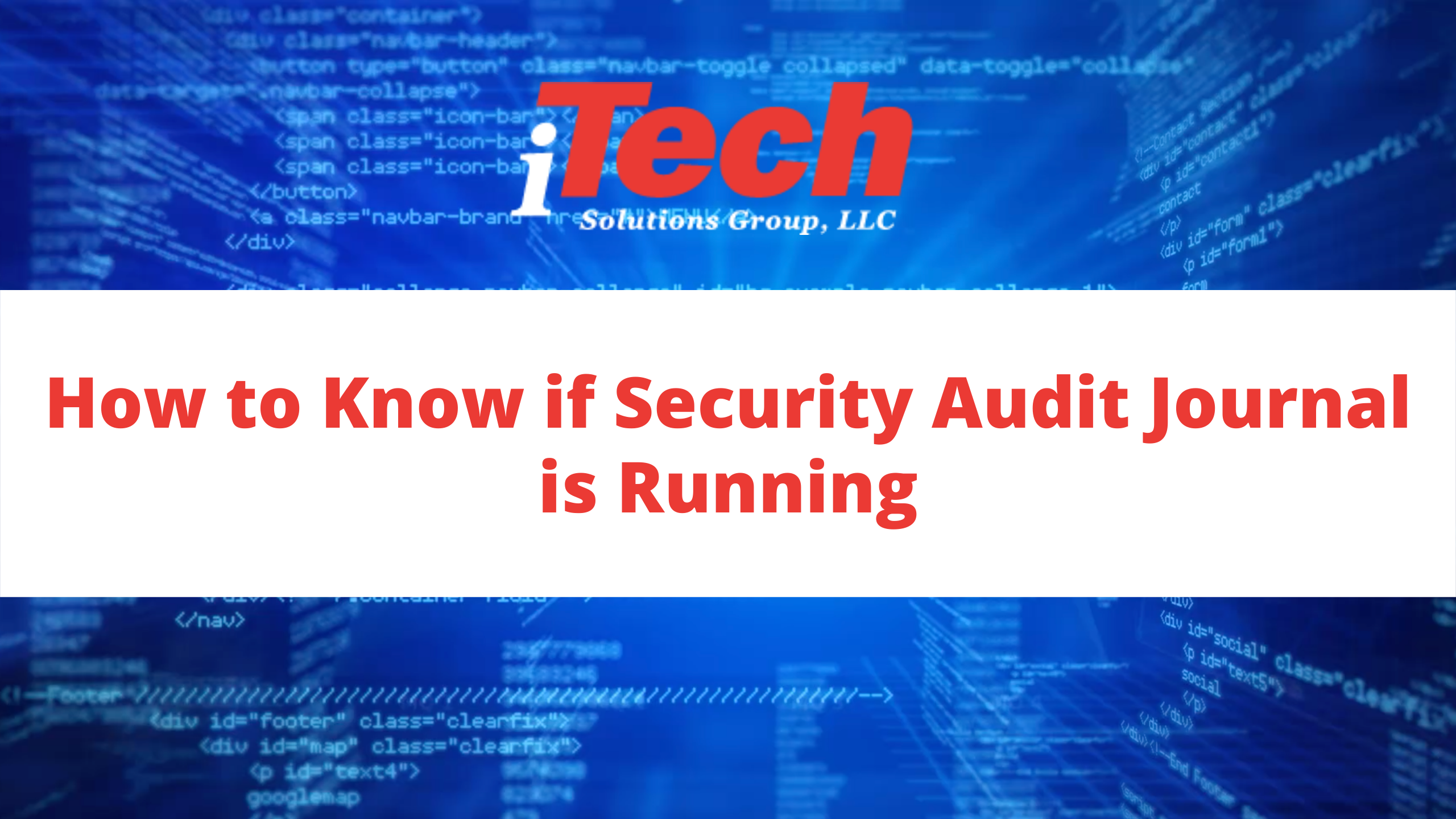 How to Know if Security Audit Journal is Running (1)