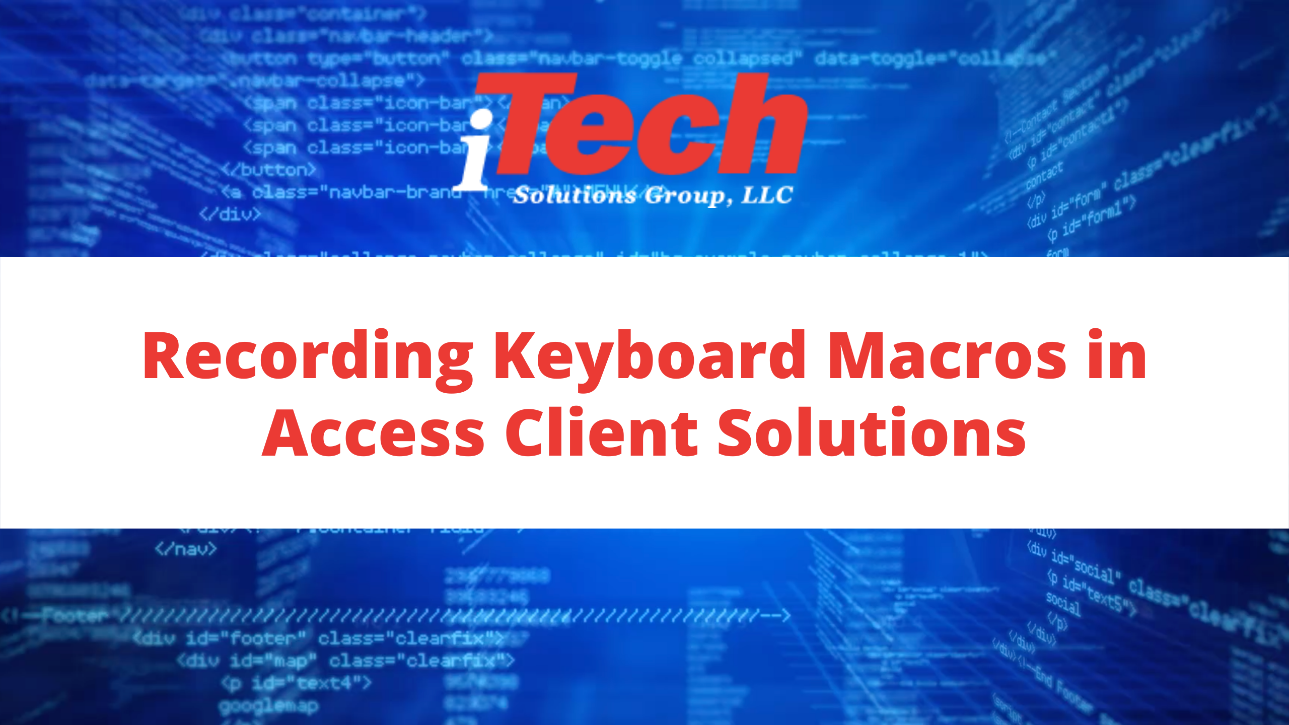 Recording Keyboard Macros in Access Client Solutions