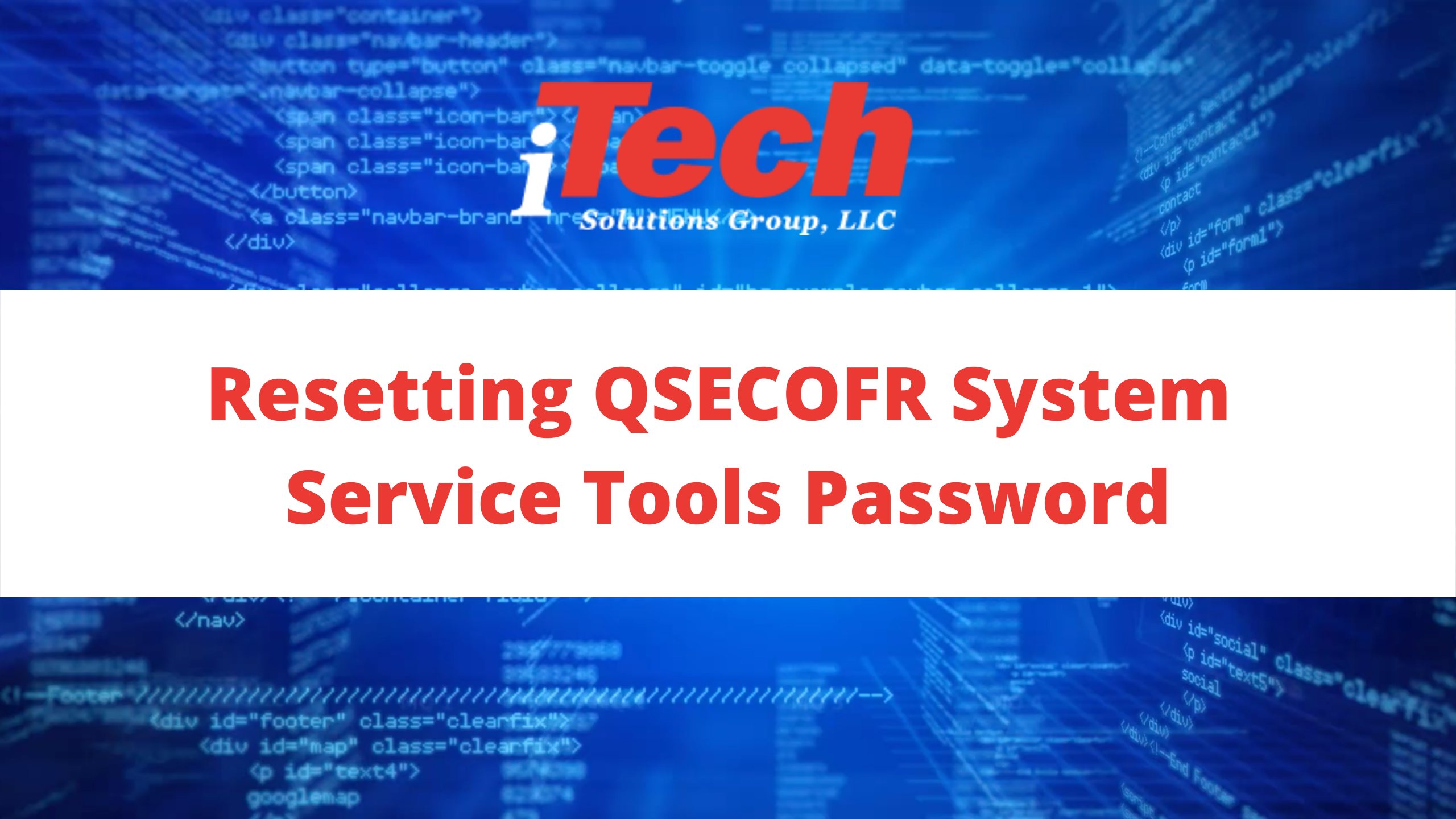 Resetting QSECOFR System Service Tools Password