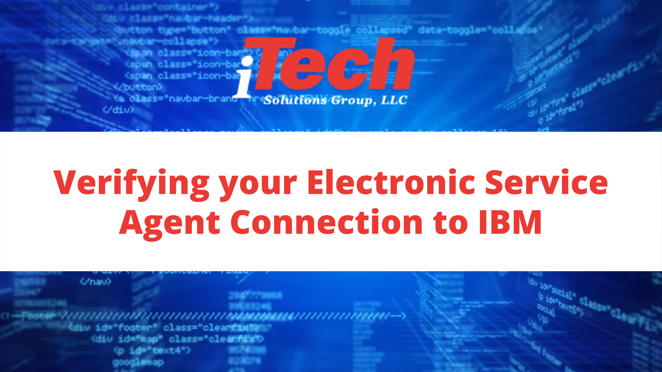 Verifying your Electronic Service Agent Connection to IBM