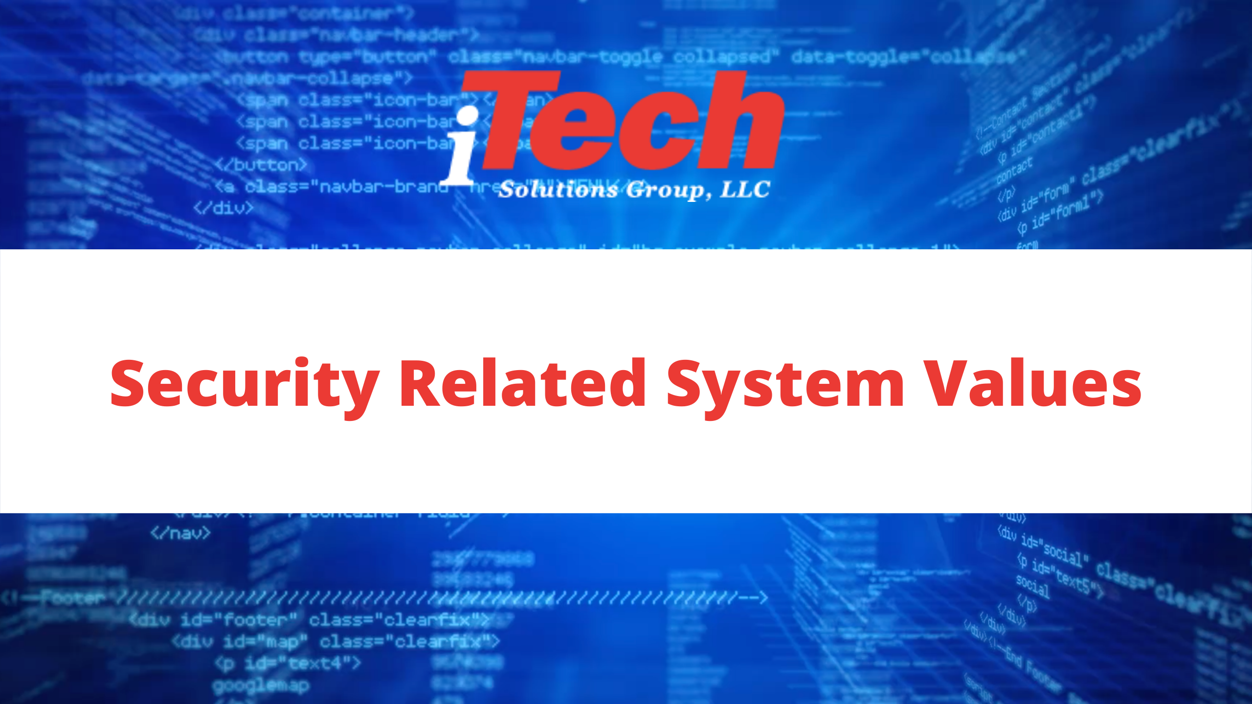 Youtube_ Security Related System Values