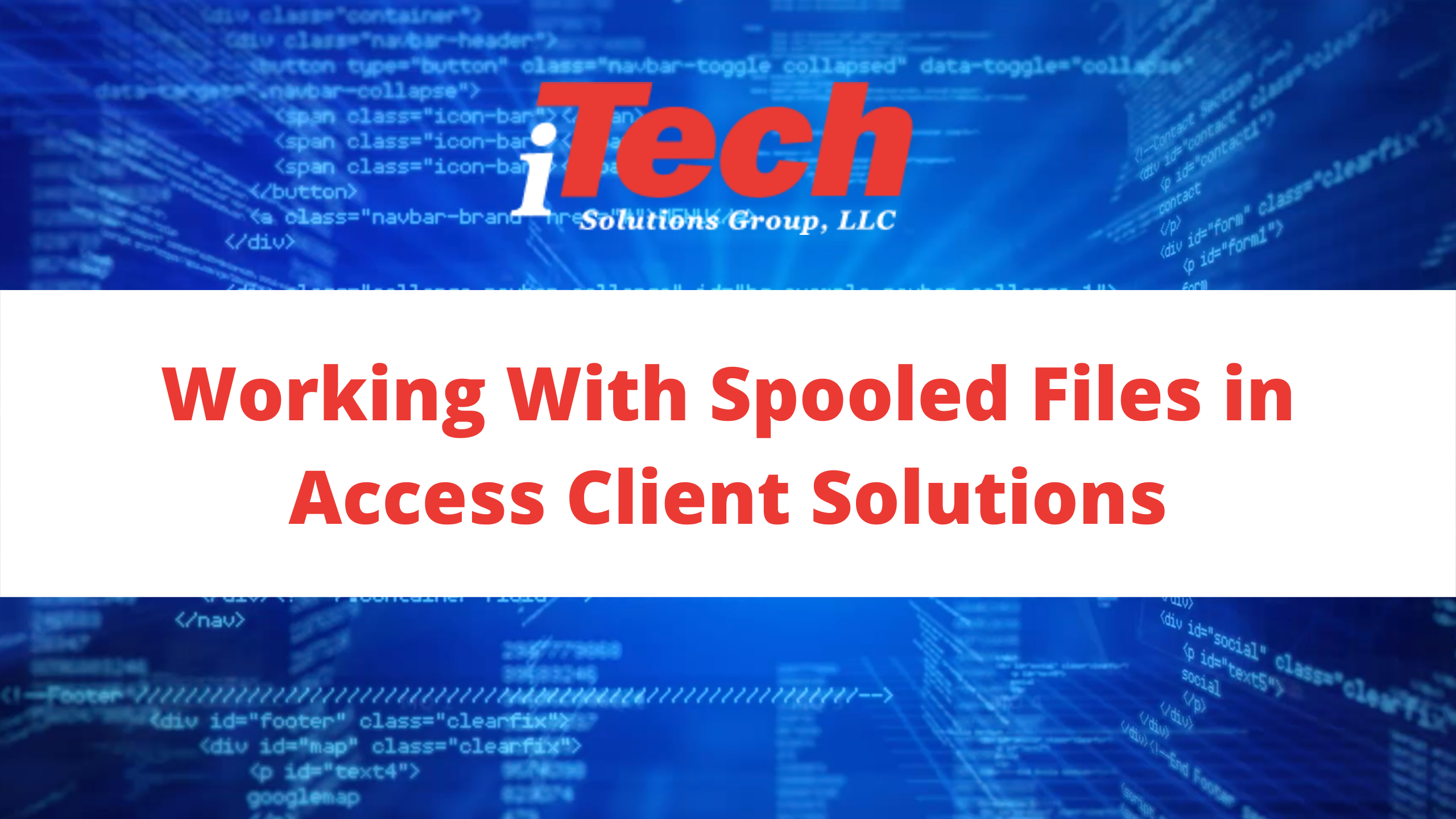 Youtube_ Working With Spooled Files in Access Client Solutions